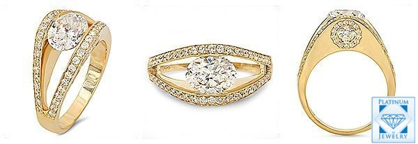 Oval cubic zirconia ring