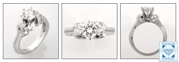 DIAMOND QUALITY 1 Ct. ROUND CZ ENGAGEMENT RING