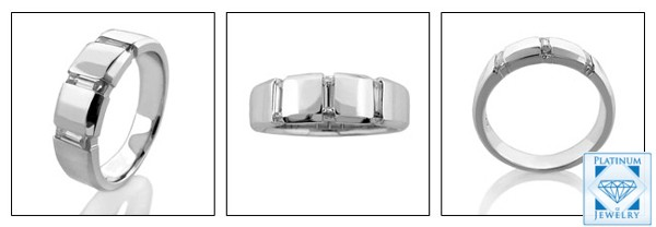 6mm wide wedding band in platinum for men