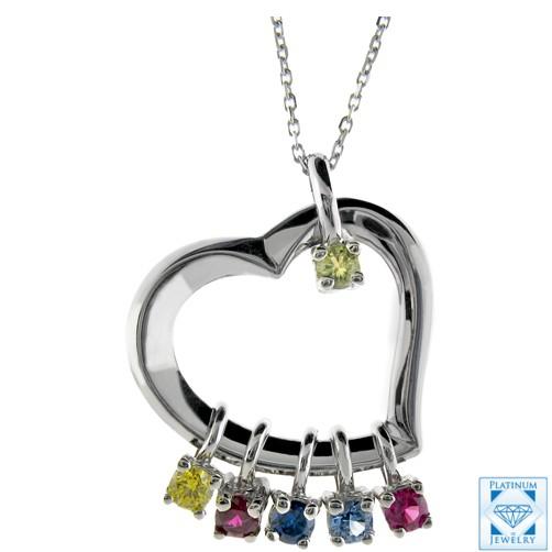 white gold heart pendant