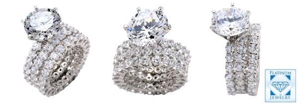 Diamond quality 3 carat cz stone