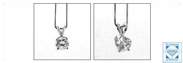 HIgh quality cubic zirconia solitaire pendant