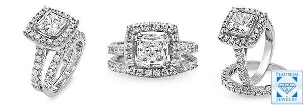 cz princess cut rings