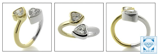 Ring with two hearts
