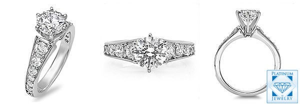 Round cz Engagement ring