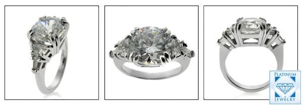 3.5 carat Cushion cubic zirconia ring