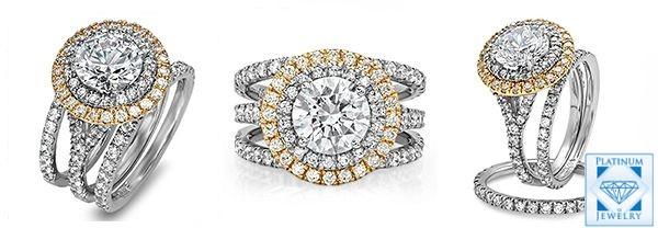 CZ Platinum Tiffany soleste rings