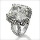 5 carat Radiant cut white gold ring