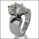 Pear shaped 3 ct solitaire ring 14k white gold