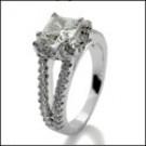 Platinum Cubic Zirconia Engagement Ring