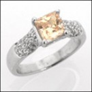 Champaign color high quality cubic zirconia anniversary ring
