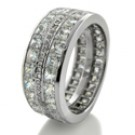 12 CARAT TOTAL HIGH QUALITY CZ PRINCESS CHANNEL ETERNITY BAND FOR MEN
