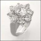 Platinum  CZ estate ring
