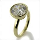 3.5 carat round bezel solitaire ring